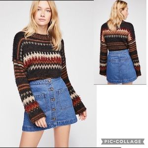 NWT FREE PEOPLE Don't Get Me Wrong Denim Skirt